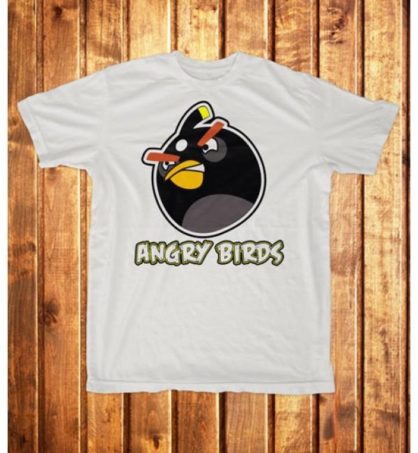 Футболка мужская Angry Birds черный