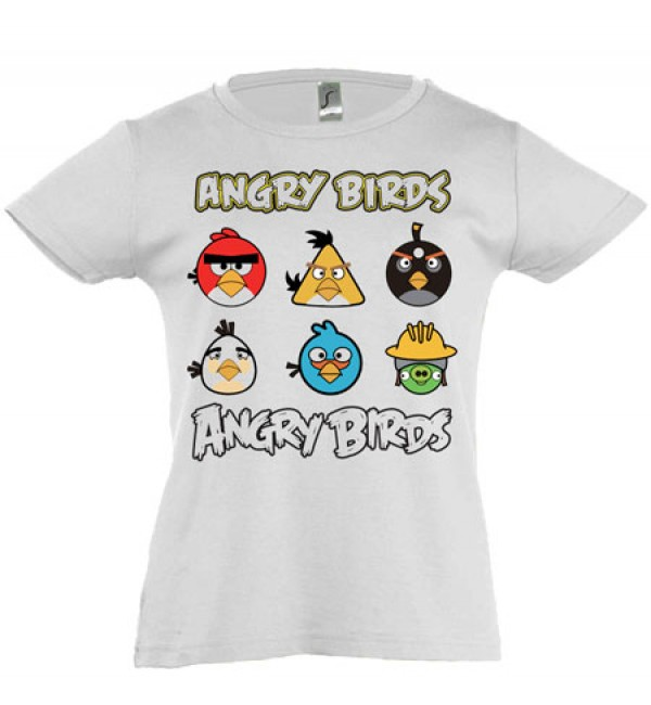 Футболка для девочки Angry Birds 5