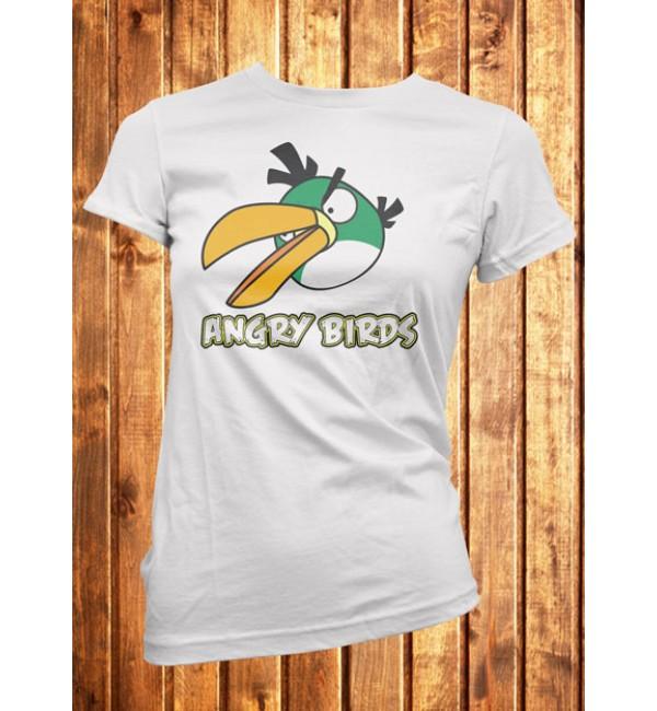 Футболка женская Angry Birds зеленая птица