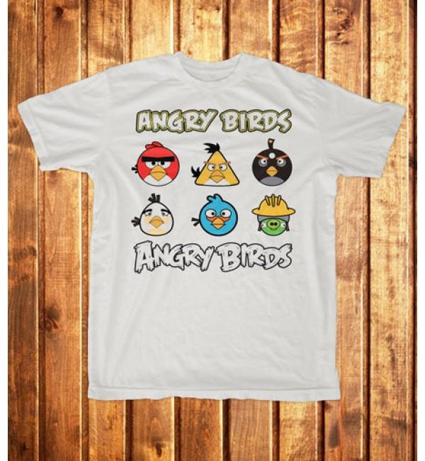 Футболка мужская Angry Birds, персонажи