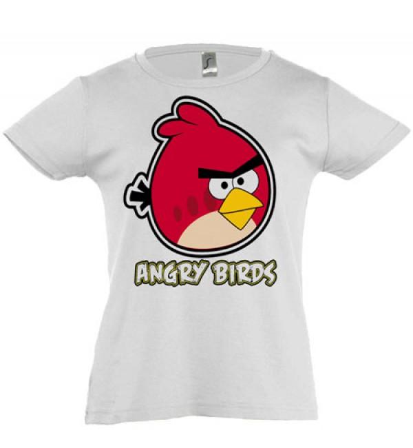 Футболка для девочки Angry Birds красный