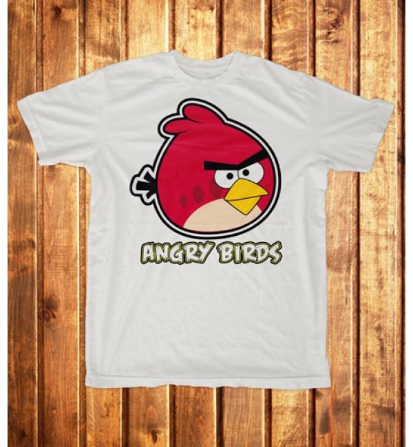 Футболка мужская Angry Birds красный