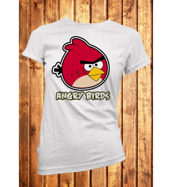 Футболка женская Angry Birds красный