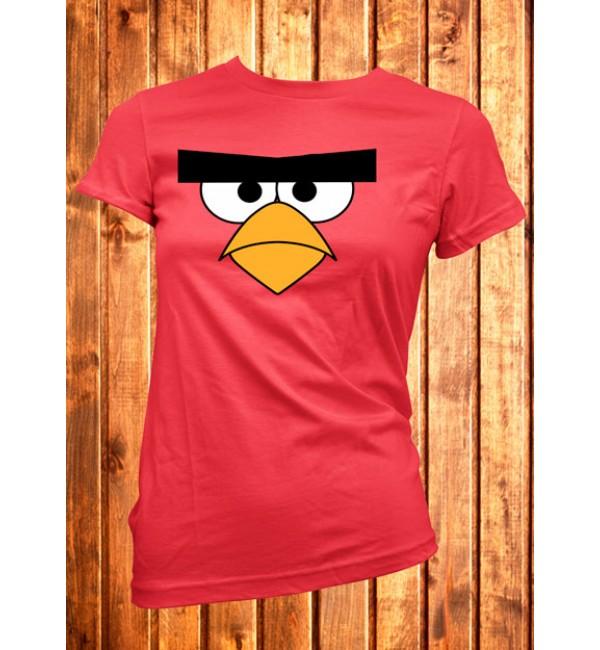 Женская футболка  Большая красная птица