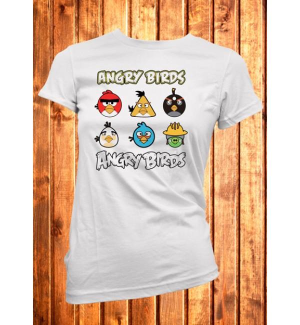 Женская футболка Персонажи Angry Birds