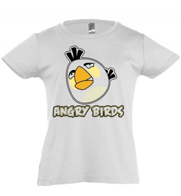 Футболка для девочки Angry Birds белый