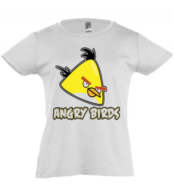 Футболка для девочки Angry Birds желтый