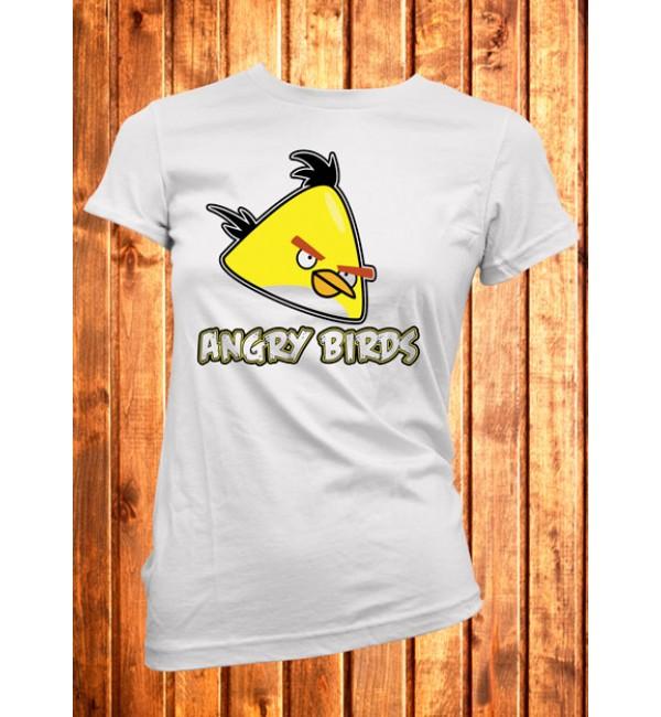 Футболка женская Angry Birds желтый