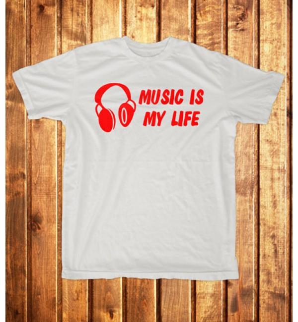 Футболка мужская Music is my life