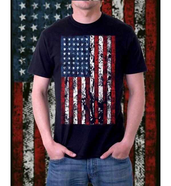 Модная футболка Мужская футболка Американский флаг