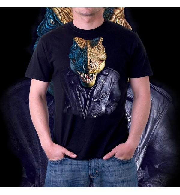Мужская футболка 3д Динозавр в курточке