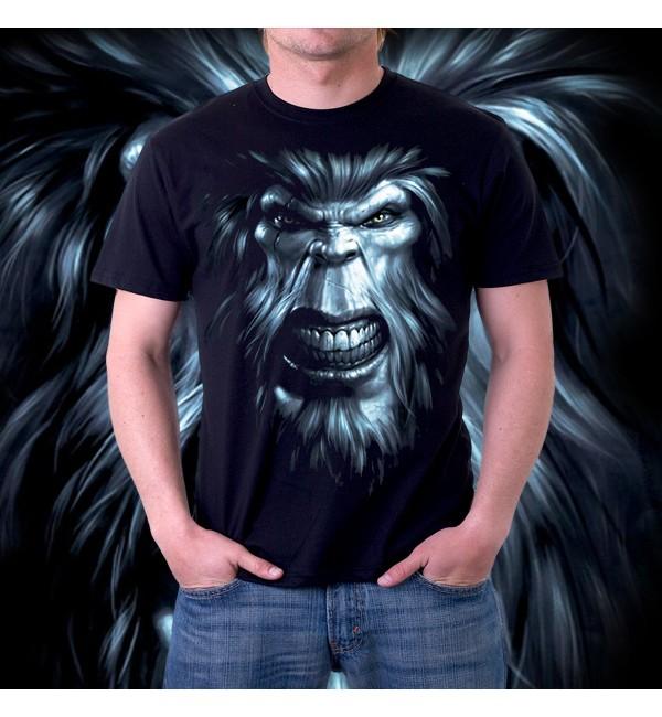 Мужская футболка 3d Снежный человек