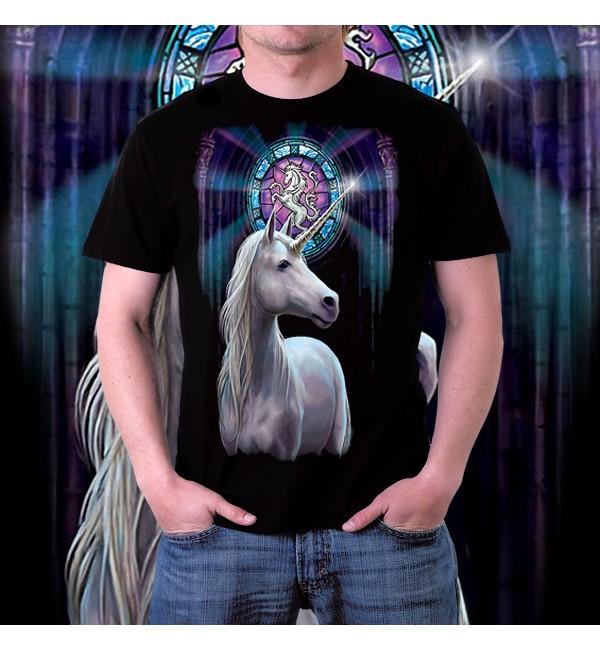 Мужская 3d футболка Единорог