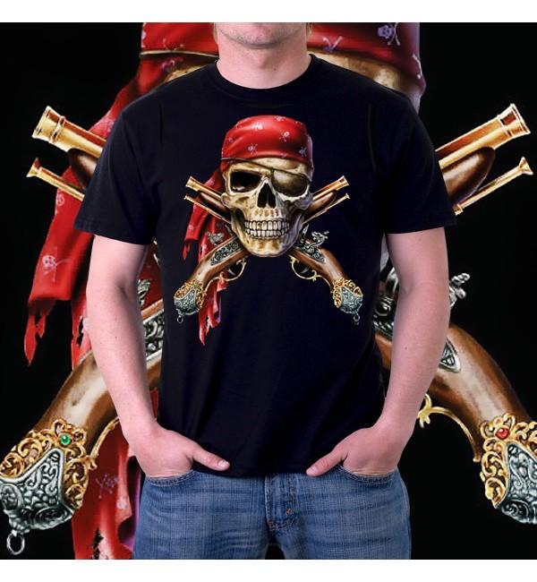 Мужская футболка 3d Skull and Muskets