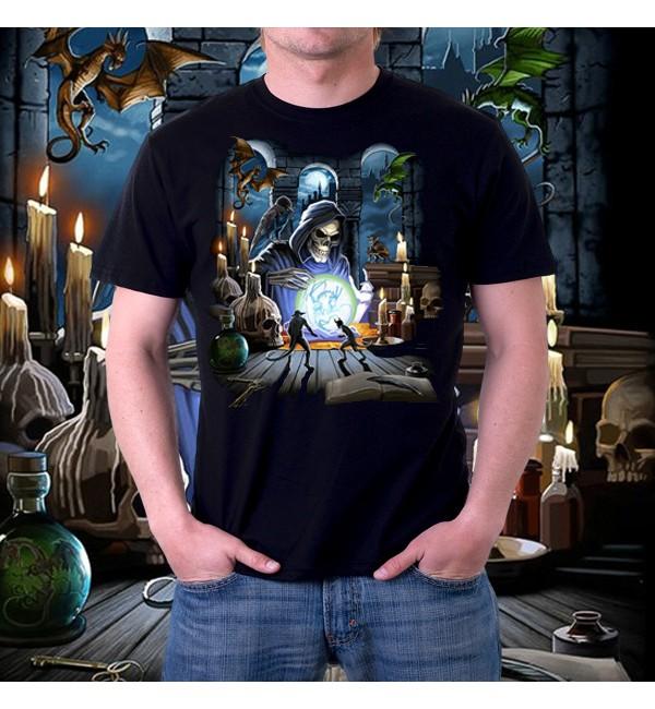 Мужская 3д футболка Reaper spell