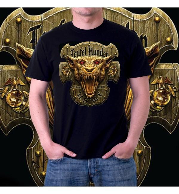 Мужская 3d футболка Teufel hunden
