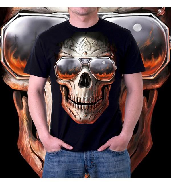Мужская 3d футболка Череп в очках