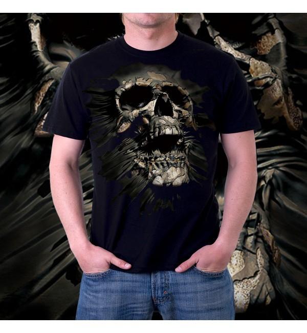 Мужская футболка 3д Breakthrough Skul