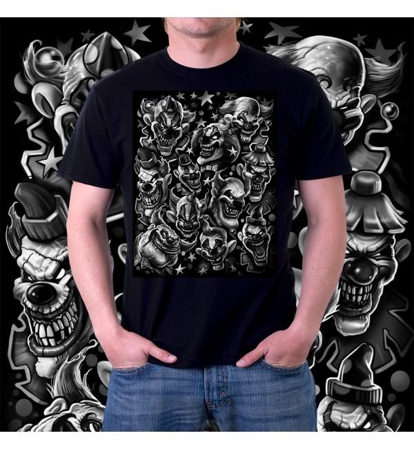 Мужская футболка 3д Клоуны