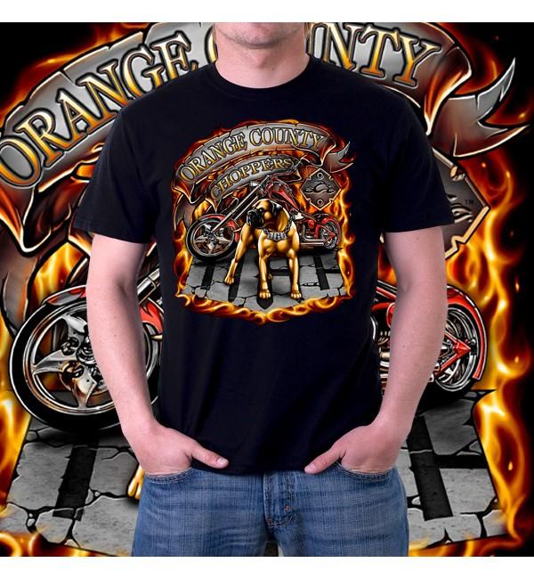 Мужская 3д футболка Orange county