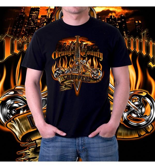 Мужская 3д футболка Orange county 2