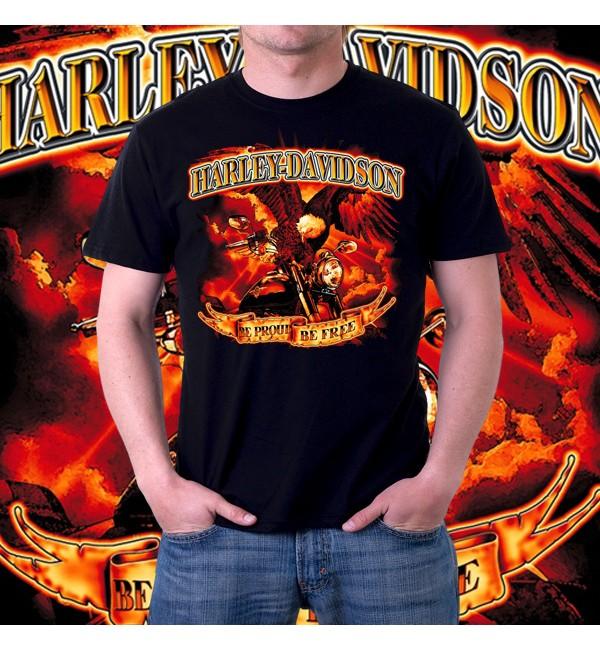 Мужская 3d футболка Harley davidson 2