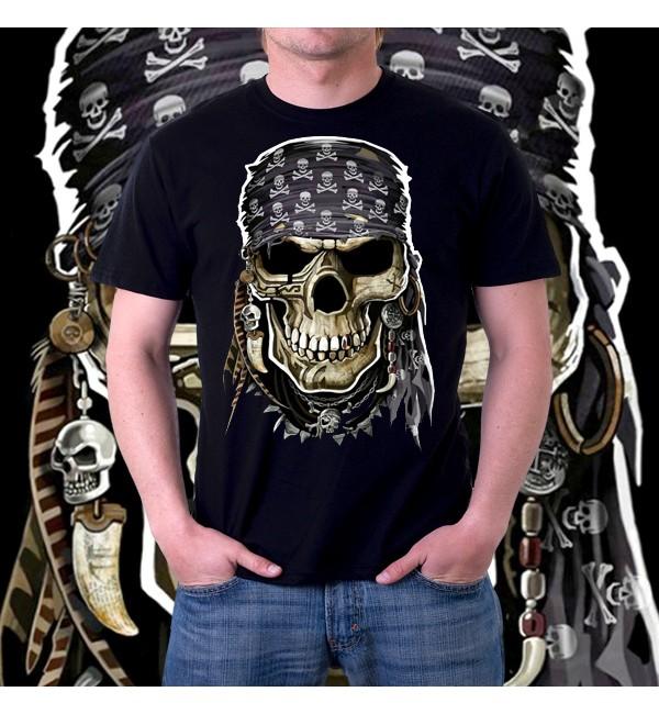 Мужская 3д футболка Pirate skull
