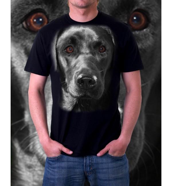 3D футболка Черный лабрадор