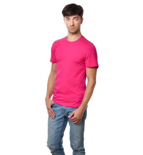 Розовые и сиреневые мужские футболки