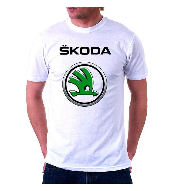 Футболка мужская  Шкода Logo