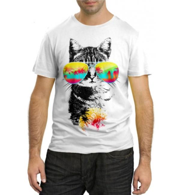 Модная футболка Кот на море