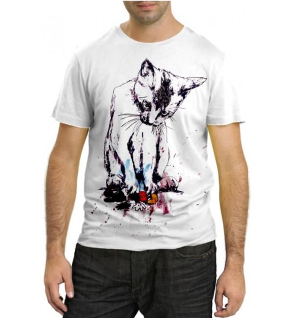 Модная футболка Злая кошка