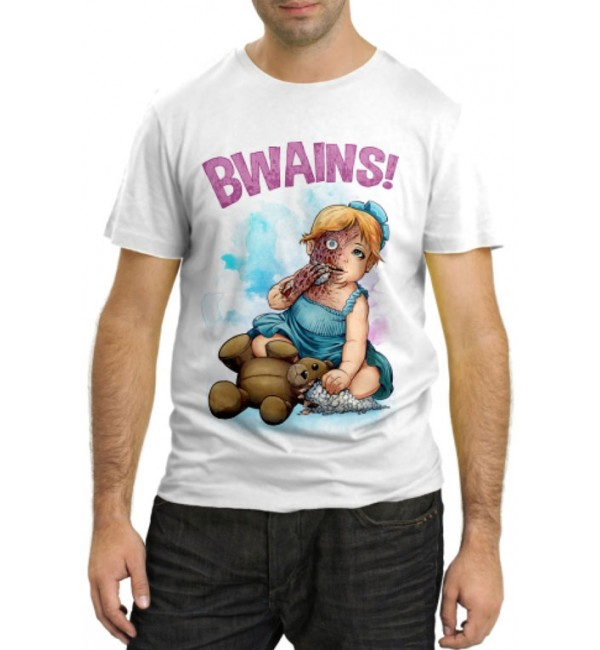 Модная футболка Футболка Bwains zombie girl