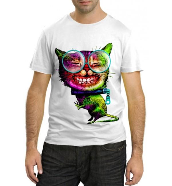 Модная футболка Довольный кот