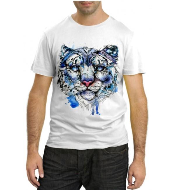 Модная футболка Белый тигр