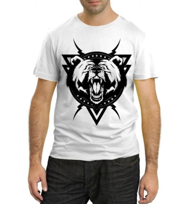 Модная футболка Медведь лого