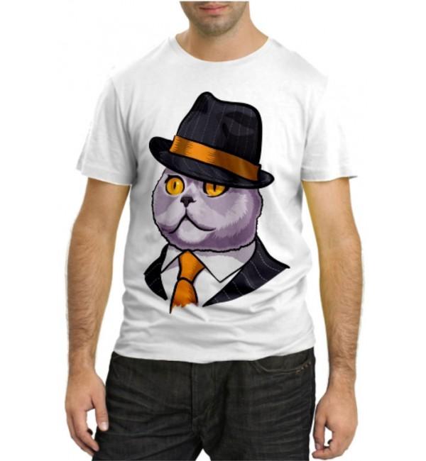 Модная футболка Мистер кот