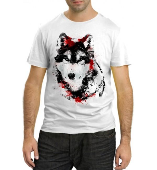 Модная футболка Волк