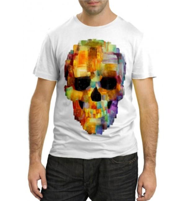 Модная футболка Череп абстракция