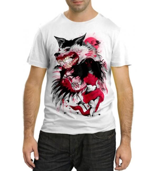 Модная футболка Волчья ярость