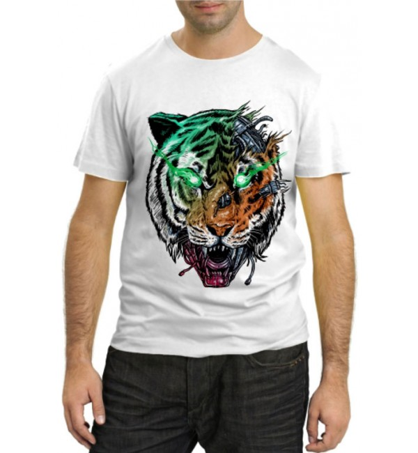 Модная футболка Тигр мутант