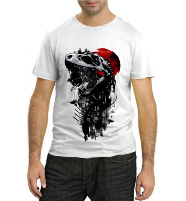 Модная футболка Динозавр абстракция