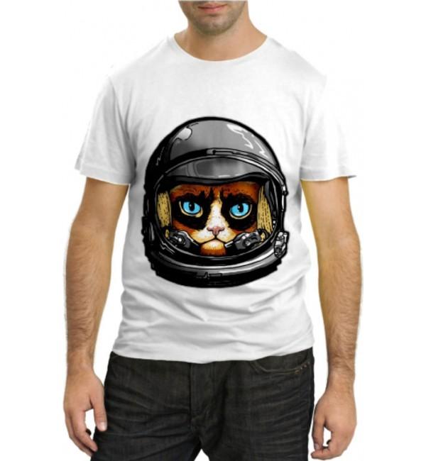 Модная футболка Кот гонщик