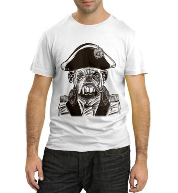 Модная футболка Бульдог капитан