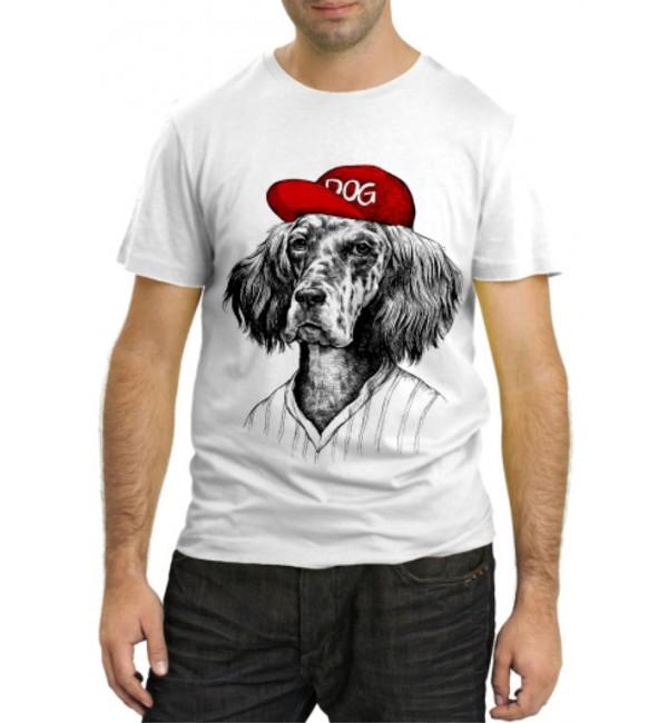 Модная футболка Собака в бейсболке