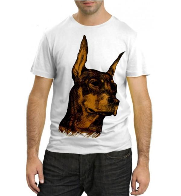 Модная футболка Доберман