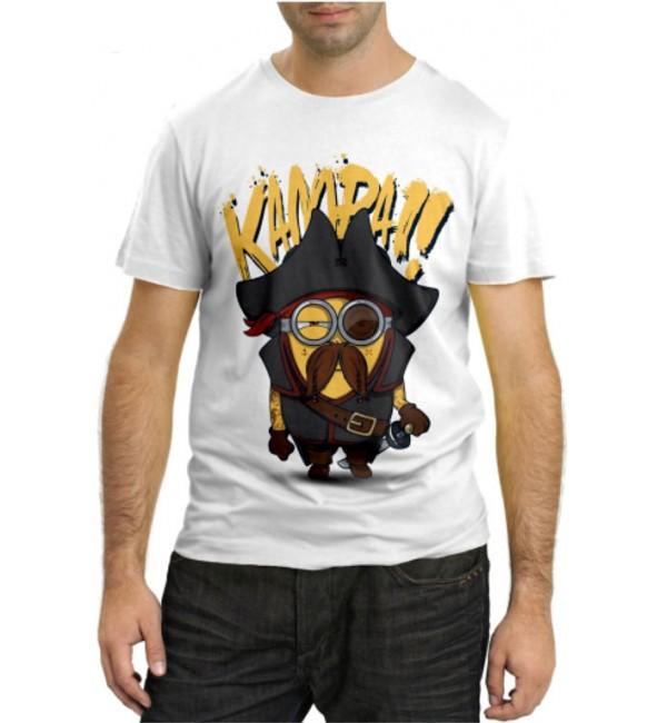 Модная футболка Миньйон Пират