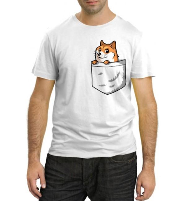 Модная футболка Лисенок в кармашке