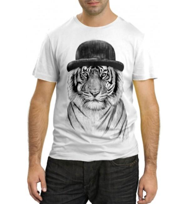 Модная футболка Тигр в котелке