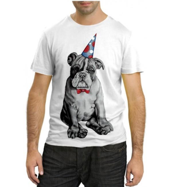 Модная футболка Бульдог именинник